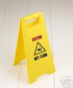 Wet Floor Sign  A - Sign  /  Cleaning in Progress/Caution Wet Floor